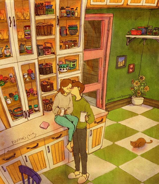 Aşk kahve içerken öpüşmektir