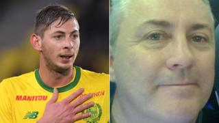 Emiliano Sala (left) was on board a plane being flown by pilot David Ibbotson