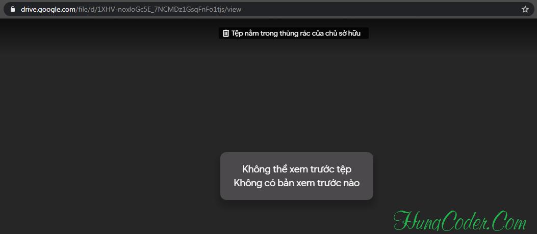 Download File Google Drive Khi Đã Bị Cho Vào Thùng Rác Của Chủ Sở Hữu