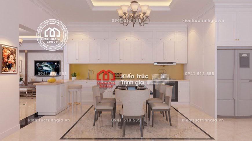 Thiết kế nội thất biệt thự tân cổ điển kiểu Pháp sang trọng - Mã số Nt4023 - Ảnh 1