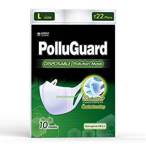 PolluGuard STD Standurd Size Adult Mask - 10 Count