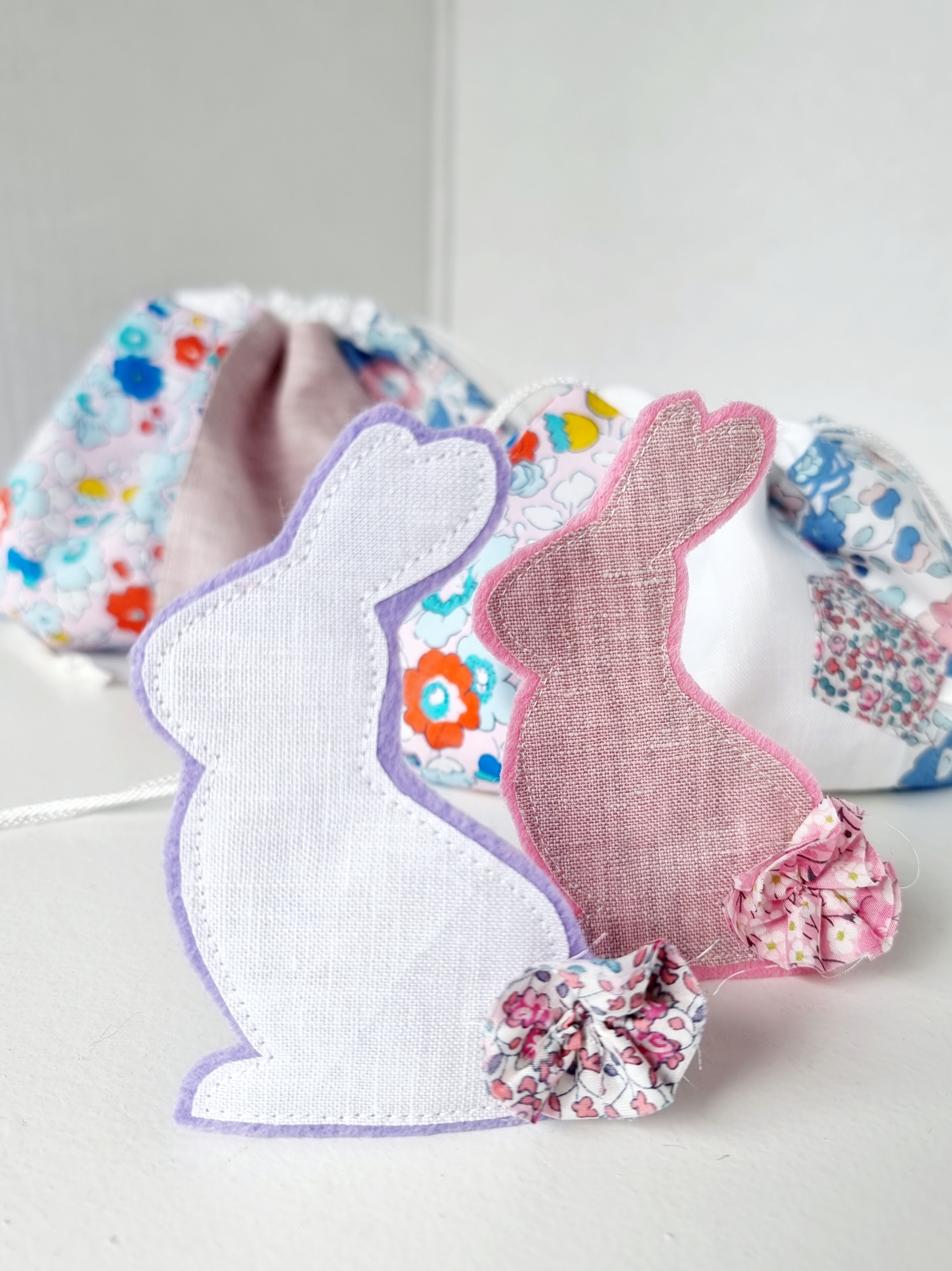 Felt and Fabric Bunny - Free Sewing Pattern