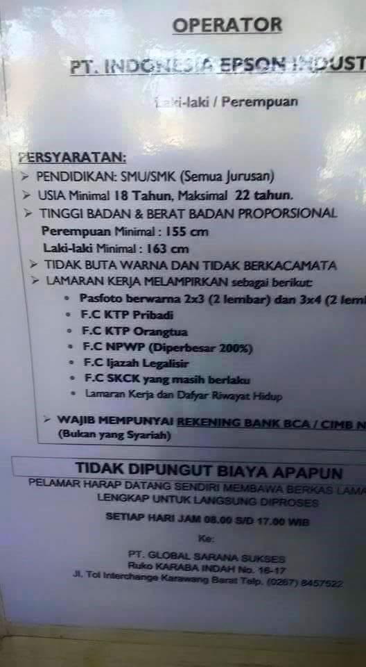 Lowongan Yamaha Lowongan Kerja Jakarta