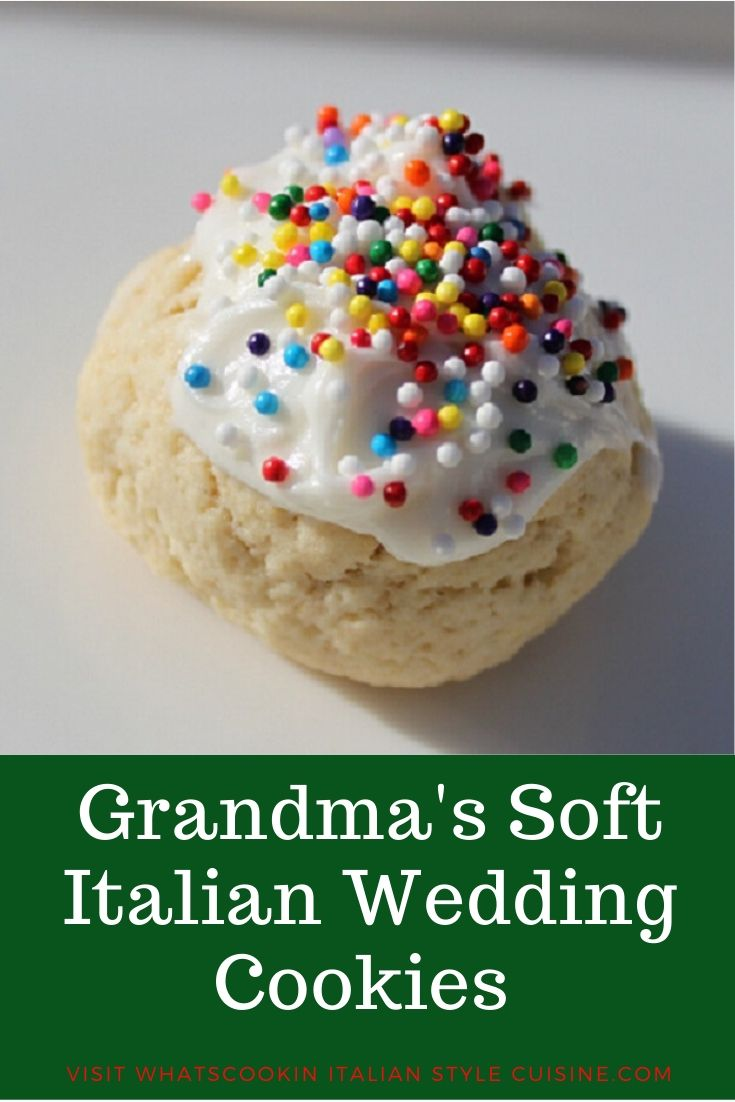 this is a pin for later soft Italian Wedding Cookie