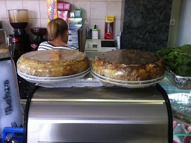 Almuerzos populares - Tortillas del bar Miranda Ontinyent