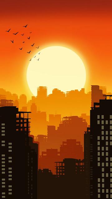 Citu Sunset Minimalist iphone wallpaper