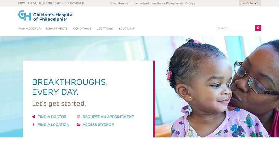 Children's Hospital of Philadelphia website