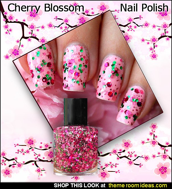 Cherry Blossom nail polish cherry nails fruit nails cherry blossoms decorating