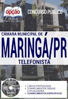 Apostila para TELEFONISTA da Câmara de Maringá 2017