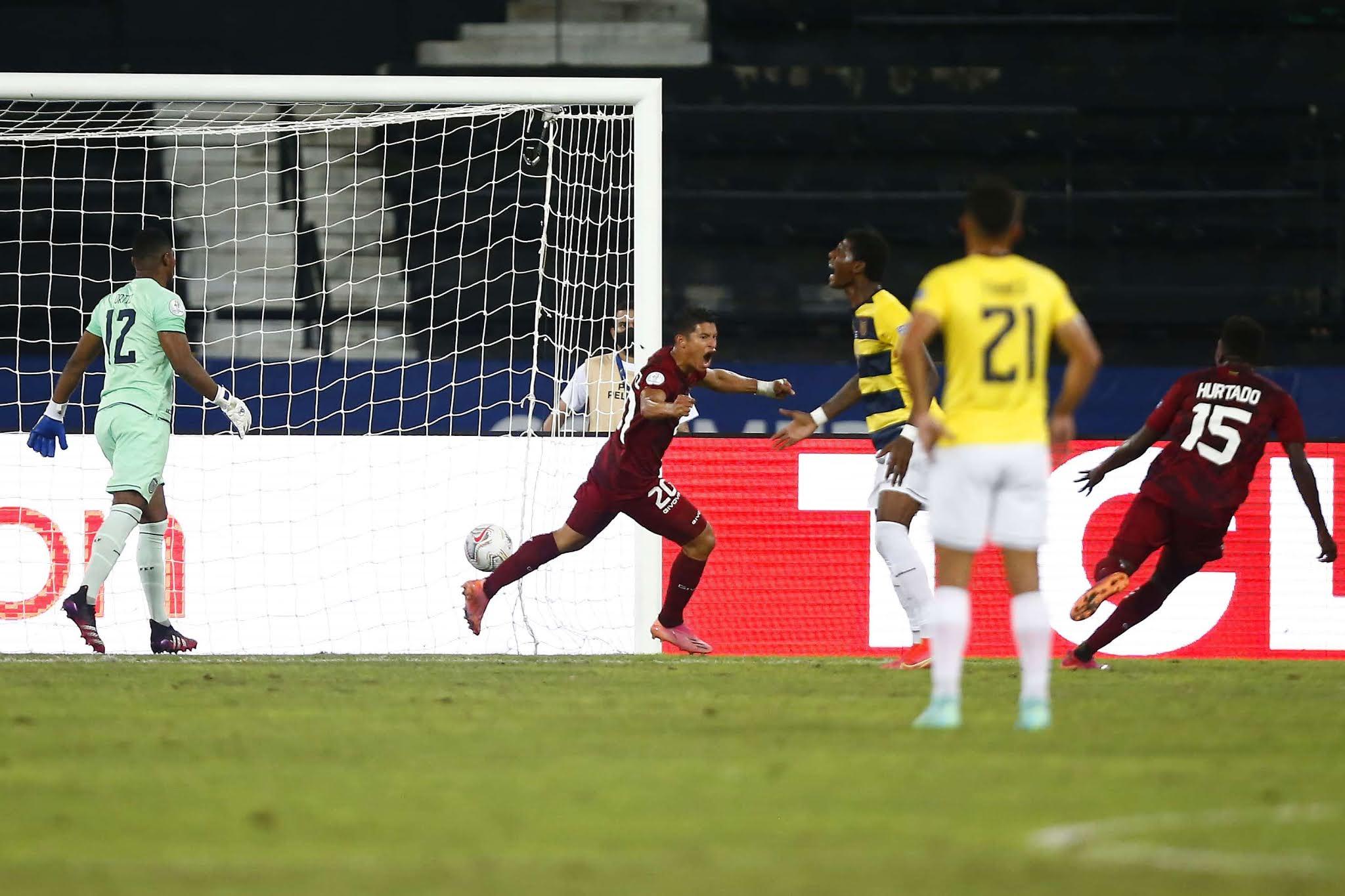 Venezuela y Ecuador igualaron en un entretenido partido por la Copa América