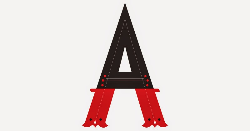 "Handlettered ""A"""