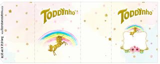 Etiquetas de Fiesta de Unicornios para imprimir gratis.
