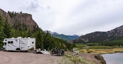 Camping at Wupperman Campground, Lake City, Colorado