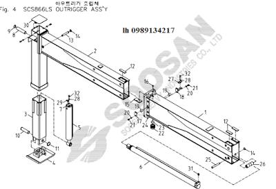Chân của Cẩu soosan 8 tấn SCS866-SCS886-SCS887