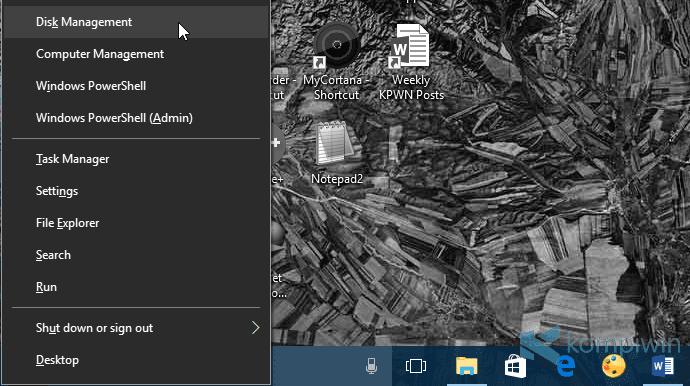 membuka disk management
