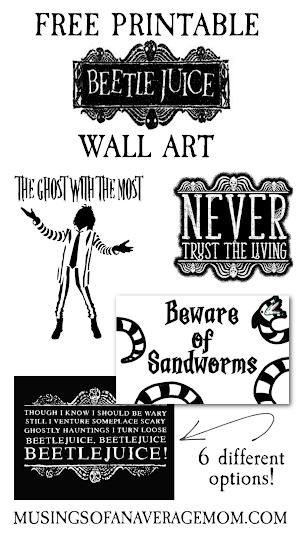 Beetlejuice wall art