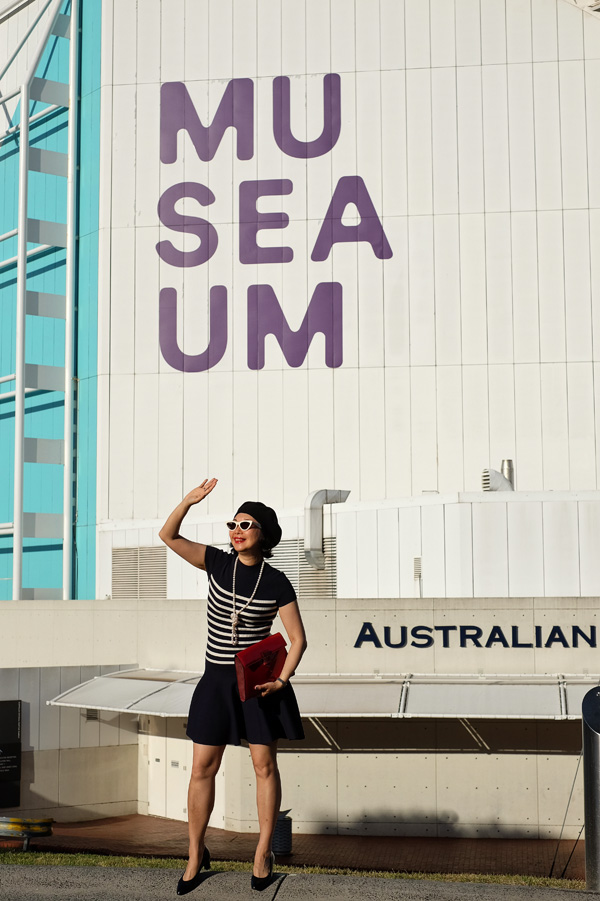 Street Fashion Sydney - Vivienne nautically prepared for the launch of the 2020 program.