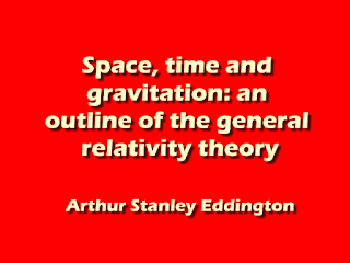 Space, time and gravitation