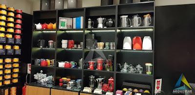 projeto arquitetura exposição loja chá shopping