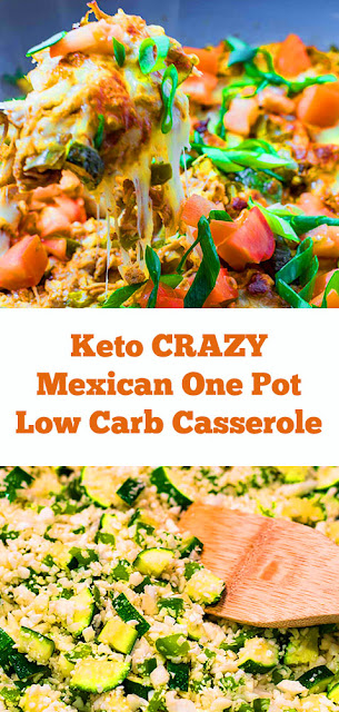 Keto CRAZY Mexican One Pot Low Carb Casserole Recipe #keto #crazy #mexicanrecipe #onepot #lowcarb #casserole #ketodinner #lowcarbdinner #maindish #easycasserole #easydinner