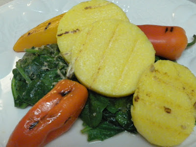 Grilled Polenta with Sweet Peppers
