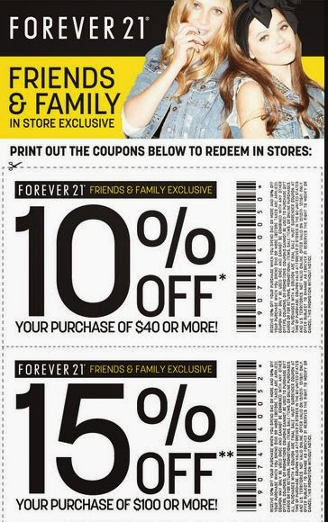 Past Forever 21 Coupon Codes