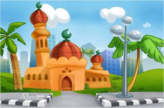 Gambar Kartun Masjid Cantik dan Lucu 201704