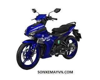 Bán Sơn xe máy YAMAHA EXCITER màu xanh đen