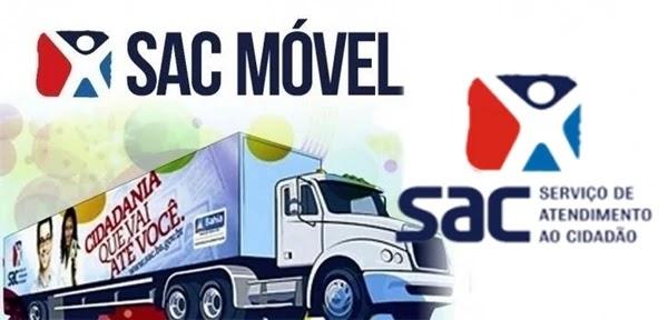 Caminhão do SAC Móvel estará em Várzea do Poço, São José do Jacuípe, Piritiba, Miguel Calmon e Serrolândia