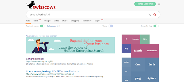 Swisscows Situs Mirip Google