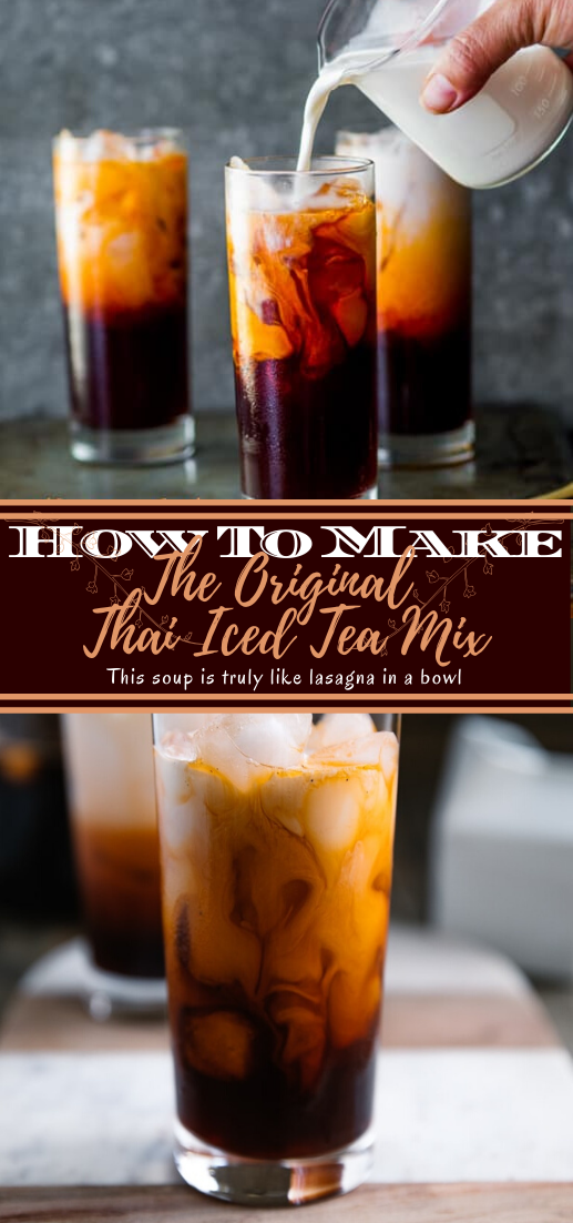 The Original Thai Iced Tea Mix  #healthydrink #easyrecipe #cocktail #smoothie
