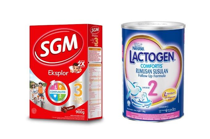 Lebih Baik Mana: SGM atau Lactogen?