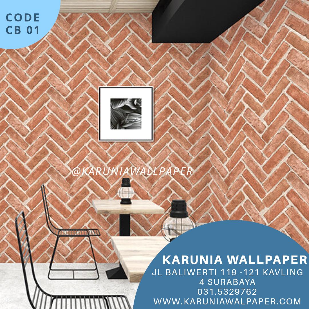 jual wallpaper motif bata 3dimensi