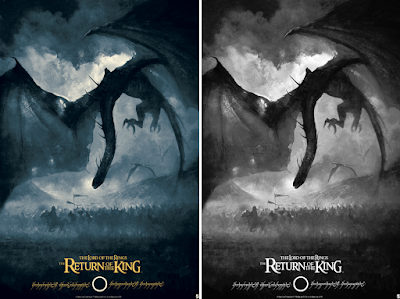 The Lord of the Rings: Return of the King Screen Print by Karl Fitzgerald x Bottleneck Gallery