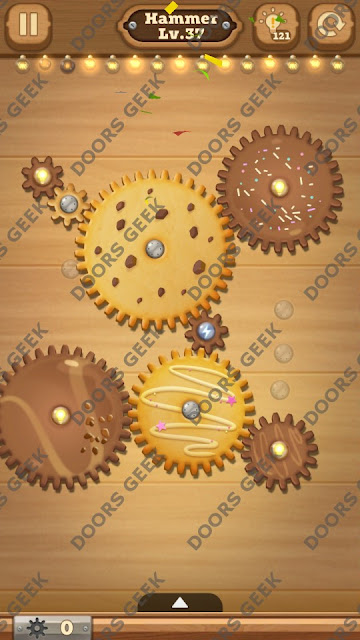 Fix it: Gear Puzzle [Hammer] Level 37 Solution, Cheats, Walkthrough for Android, iPhone, iPad and iPod