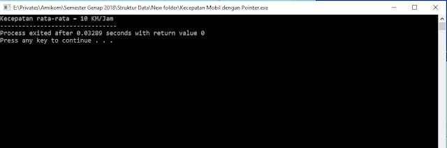 Program Menghitung Kecepatan Rata-rata dengan Pointer C++