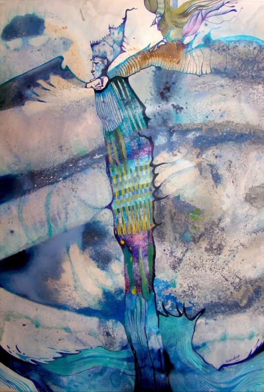 Наивные рисунки акварелью. Estela Cuadro 17