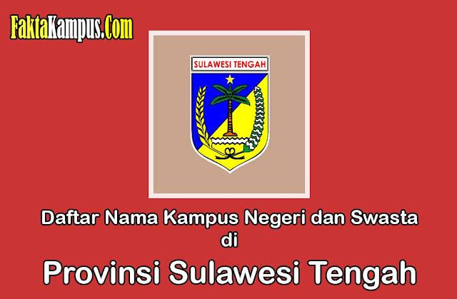 Daftar Kampus di Sulawesi Tengah
