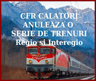 lista trenurilor cfr calatori anulate din cauza coronavirusului