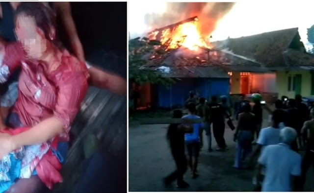 Seorang Pria Ngamuk,  Bacok 5 Warga dan Bakar Rumah di PW Pangandaran