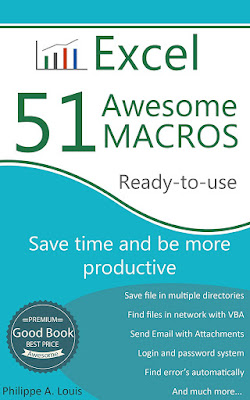 [Free ebook Download]Excel - 51 Awesome Macros: Save time and be more productive by Philippe A. Louis