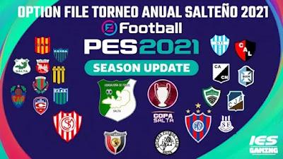 PES 2021 PS4/PS5 Option File Liga Salteño