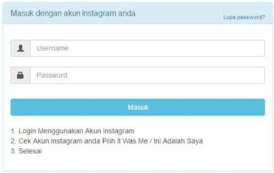 login dengan akun instagram