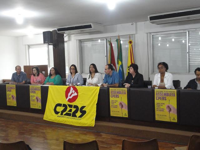 Conselho geral do CPERS/Sinto reunido para discutir ações de lutas da categoria.