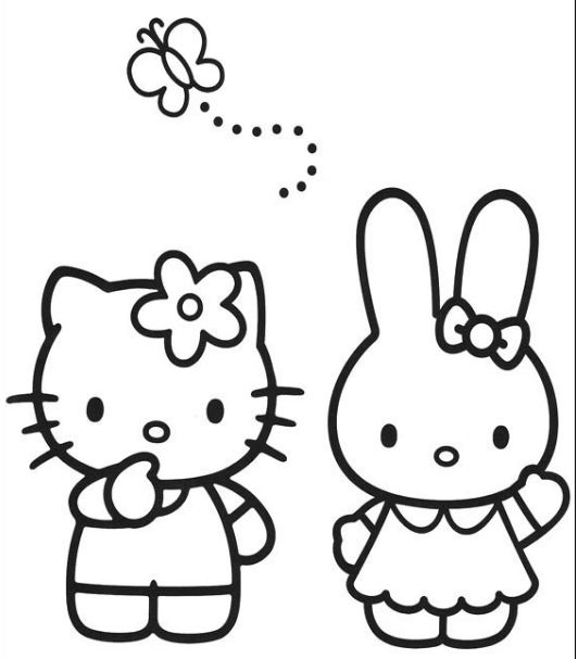 Hello Kitty Templates and Coloring Pages. Free Printables ...