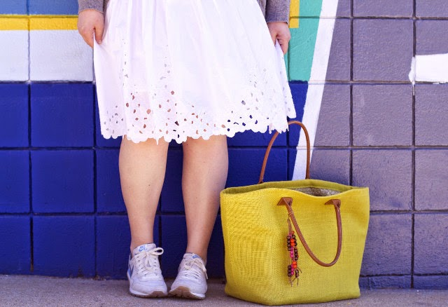 how to wear sneakers with a skirt this spring