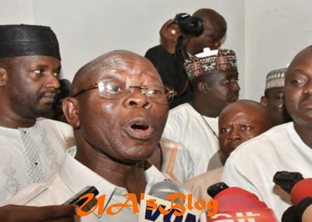 BREAKING: Oshiomhole pelted with stones at Ogun APC rally