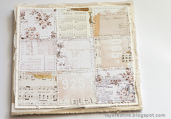 Layers of ink - Wedding Card Tutorial by Anna-Karin Evaldsson. Prima Marketing Pretty Pale paper patchwork.