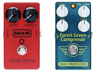 MXR Dyna Comp Compressor M102 Vs Mad Professor Forest Green