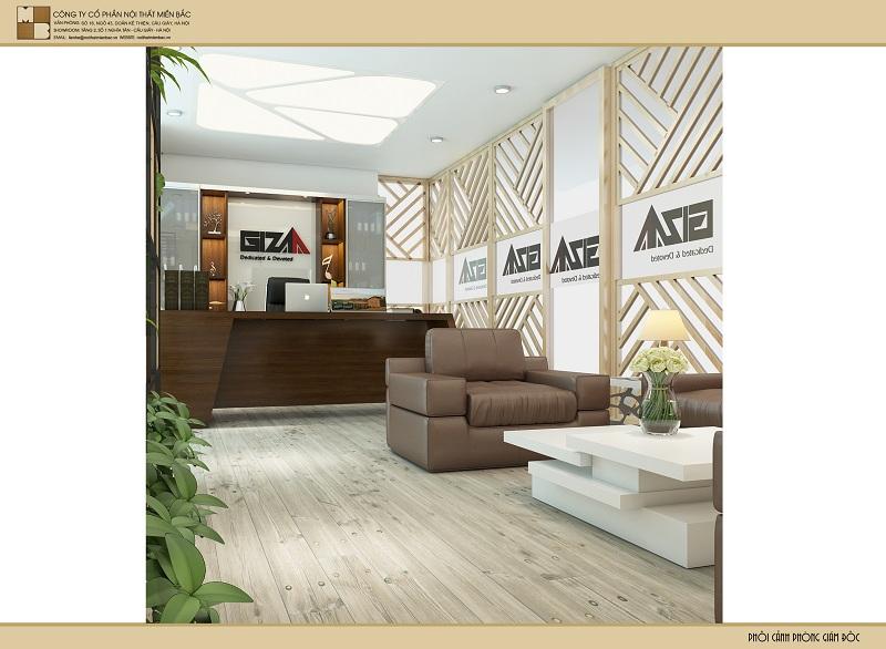Thiết kế nội thất phòng giám đốc linh hoạt